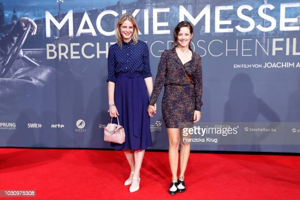 Rike Schmid and Anja Knauer during the 'Mackie Messer Brechts Dreigroschenfilm' premiere at Zoo Palast on September 10 2018 in Berlin Germany