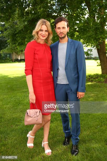 Rike Schmid and attends the '#weiles2017ist' Reception And Closing Ceremony at Bundeskanzleramt on July 17 2017 in Berlin Germany