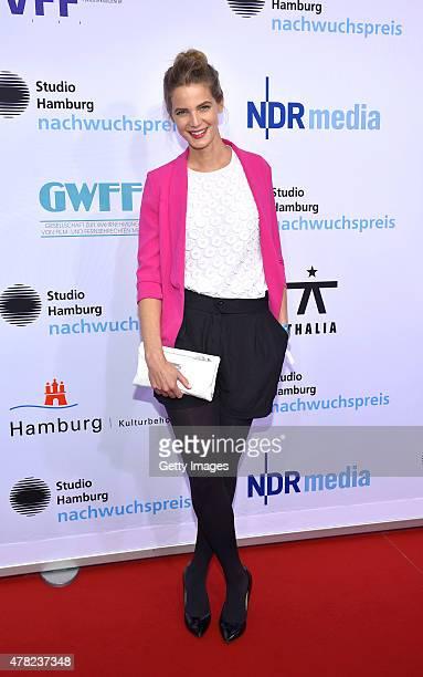 Rike Schmid attends the Studio Hamburg Nachwuchspreis 2015 at Thalia Theater on June 23 2015 in Hamburg Germany
