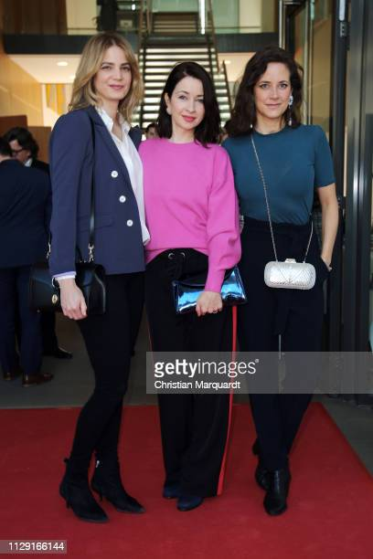 Rike Schmid Loretta Stern and Anja Knauer attend the Hessian reception during the 69th Berlinale International Film Festival on February 12 2019 in...