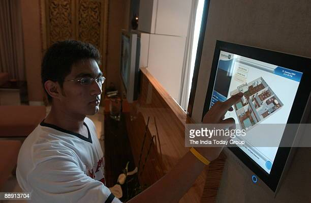 Riken Vora son of Heena Vora controls his house through touch screen interphase in the Western Indian of City Of Mumbai The touch screen help to...