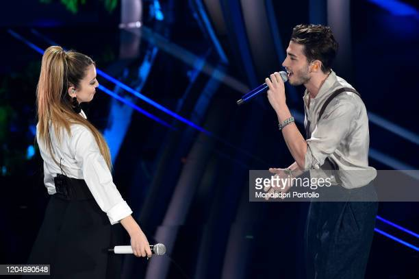 Riki, Ana Mena at the third evening of the 70th Sanremo Music Festival on February 6th, 2020 in Sanremo, Italy.