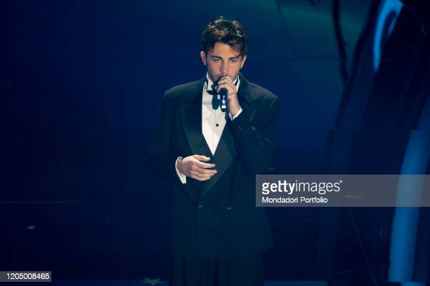 Riki at the final evening of the 70 Sanremo Music Festival Sanremo February 8th 2020