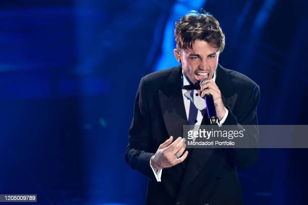 Riki at the final evening of the 70th Sanremo Music Festival Sanremo February 8th 2020