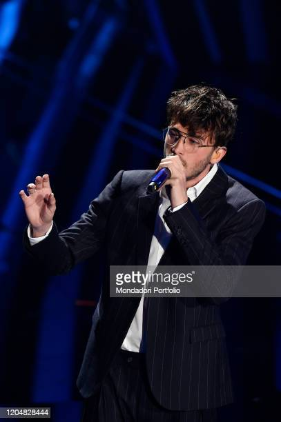 Riki at the fourth evening of the 70th Sanremo Music Festival on February 07, 2020 in Sanremo, Italy.