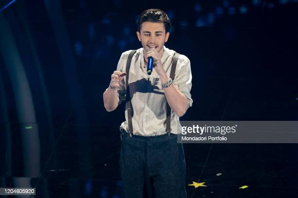 Riki at the third evening of the 70 Sanremo Music Festival. Sanremo , February 6th, 2020