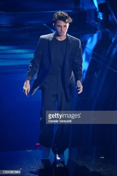Riki attends the 70° Festival di Sanremo at Teatro Ariston on February 04, 2020 in Sanremo, Italy.