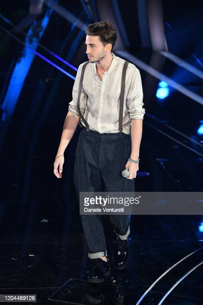 Riki attends the 70° Festival di Sanremo at Teatro Ariston on February 06, 2020 in Sanremo, Italy.