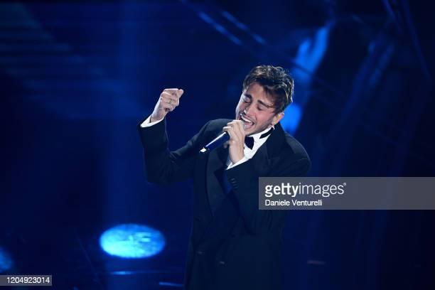 Riki attends the 70° Festival di Sanremo at Teatro Ariston on February 08, 2020 in Sanremo, Italy.