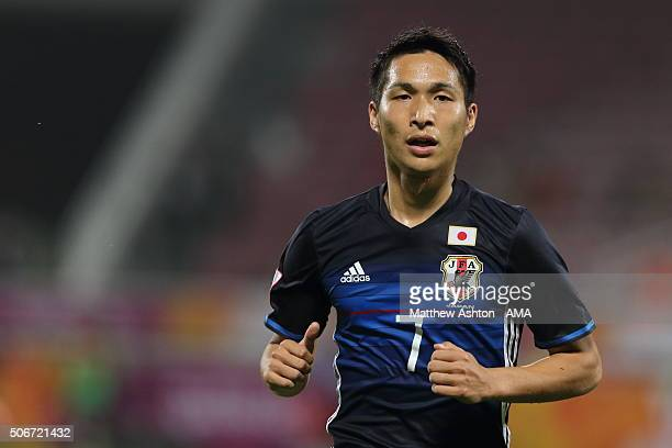 Riki Harakawa of Japan of Japan during the AFC U23 Championship quarter final match between Japan and Iran at the Abdullah Bin Khalifa Stadium on...