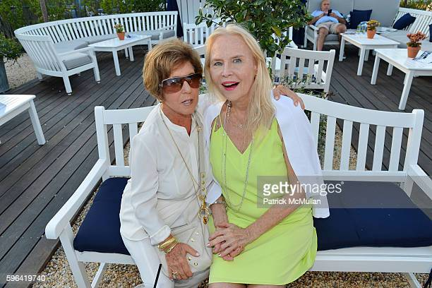 Riki Kane Larimer and Cornelia Sharpe Bregman attend NYC Mission Society Cocktails and Conversations in Southampton at OREYA Hamptons on August 25,...