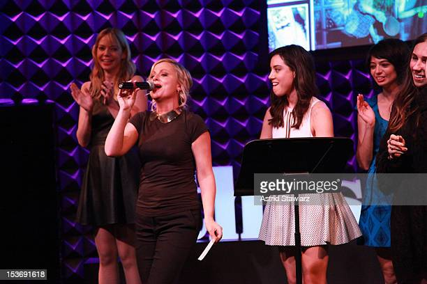 Riki Landhome Amy Poehler Aubrey Plaza Kate Micucci Zosia Mamet and Rashida Jones perform at Glamour Presents These Girls at Joe's Pub on October 8...