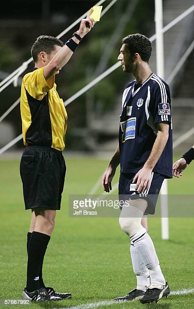 Riki van Steeden of Auckland City FC gets sent off during the OFC Club Championship Final match between Auckland City and AS Pirae at North Harbour...