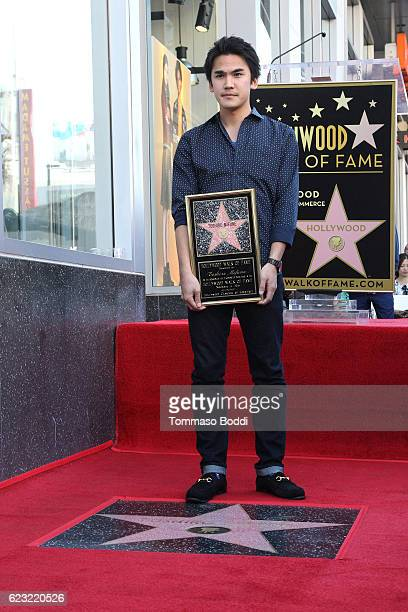 Rikiya Mifune attends a ceremony honoring Toshiro Mifune with posthumous Star On The Hollywood Walk Of Fame on November 14 2016 in Hollywood...