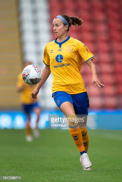 Rikke Sevecke of Everton during the Barclays FA Women's Super League match between Manchester United Women and Everton Women at Leigh Sports Village...