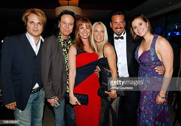 Rikki Rockett Bobby Dall Jill Zarin Toni Habib and Barry Habib and writer/director Kaily Smith attend the 63rd Annual Tony Awards after party at...