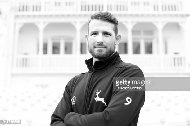 Rikki Wessells of Nottinghamshire County Cricket Club poses for a portrait during the Nottinghamshire CCC Photocall at Trent Bridge on April 4 2018...