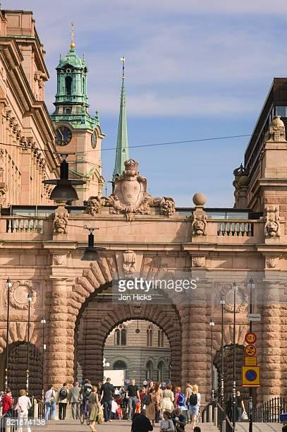 Riksdagshuset Arches in Gamla Stan