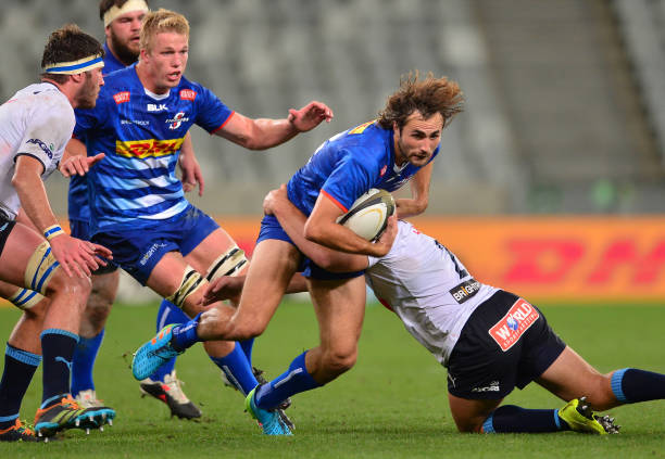 CAPE TOWN, SOUTH AFRICA - MAY 08: Rikus Pretorius of the Stormers during the PRO14 Rainbow Cup SA match between DHL Stormers and Vodacom Bulls at Cape Town Stadium on May 08, 2021 in Cape Town, South Africa. (Photo by Ashley Vlotman/Gallo Images/Getty Images)