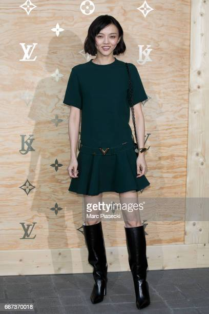 Rila Fukushima attends the 'Louis Vuitton Masters a collaboration with Jeff Koons' dinner at Musee du Louvre on April 11 2017 in Paris France
