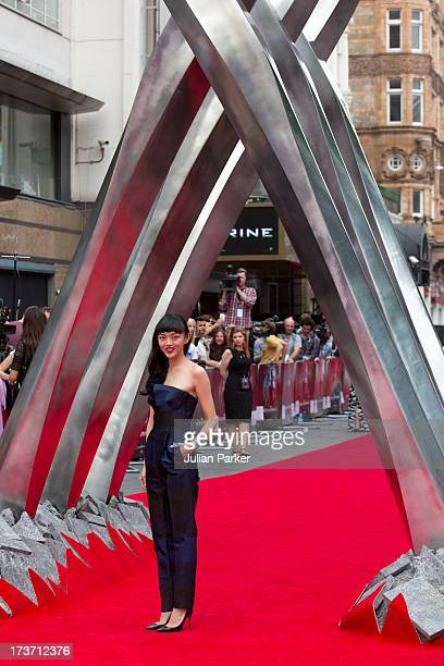 Rila Fukushima attends the UK Premiere of 'The Wolverine' at Empire Leicester Square on July 16 2013 in London England