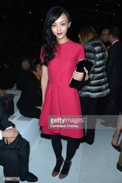 Rila Fukushima attends the Valentino show as part of the Paris Fashion Week Womenswear Fall/Winter 20142015 on March 4 2014 in Paris France