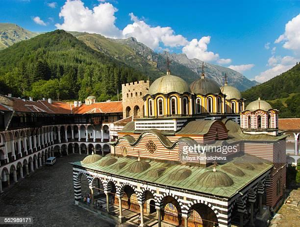 rila monastery, europe, bulgaria - bulgaria stock pictures, royalty-free photos & images
