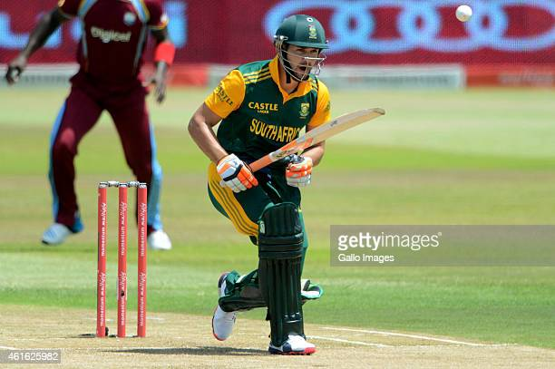 Rilee Rossouw of South Africa in action during the 1st Momentum ODI between South Africa and West Indies at Sahara Stadium Kingsmead on January 16...