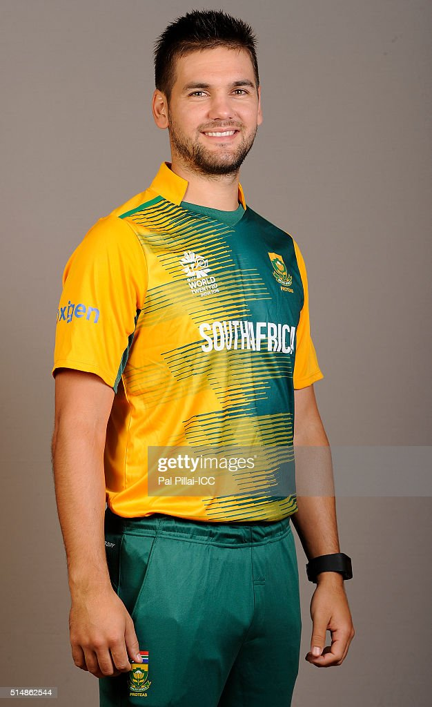 Rilee Rossouw of South Africa poses during the official photocall for the ICC Twenty20 World on March 11, 2016 in Mumbai, India.