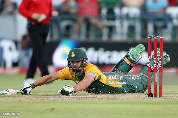 Rilee Rossouw of the Proteas in action during the 3rd KFC T20 International match between South Africa and Australia at PPC Newlands on March 09,...
