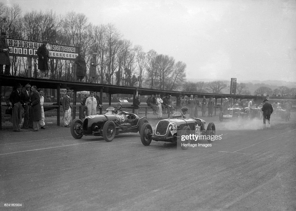 Riley And Alta Racing At Donington Park Leicestershire C1930s