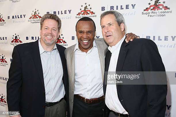 CEOB Riley Co Tom Kelleher former boxer Sugar Ray Leonard and Chairman B Riley Co Bryant Riley attend B Riley Co And Sugar Ray Leonard Foundation's...