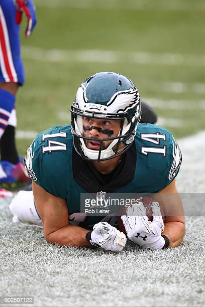 Riley Cooper of the Philadelphia Eagles in action during the game against the Buffalo Bills at Lincoln Financial Field on December 13 2015 in...