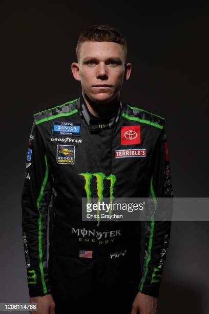 Riley Herbst poses for a photo at Daytona International Speedway on February 13 2020 in Daytona Beach Florida