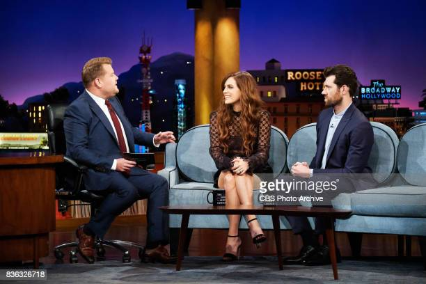 Riley Keough and Billy Eichner chat with James Corden during 'The Late Late Show with James Corden' Monday August 14 2017 On The CBS Television...