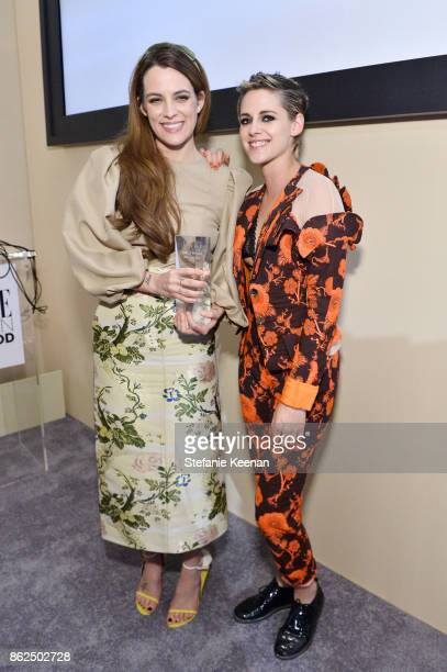 Riley Keough and Kristen Stewart attend ELLE's 24th Annual Women in Hollywood Celebration presented by L'Oreal Paris Real Is Rare Real Is A Diamond...