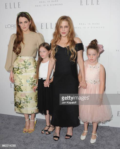 Riley Keough and Lisa Marie Presley arrive at ELLE's 24th Annual Women in Hollywood Celebration at Four Seasons Hotel Los Angeles at Beverly Hills on...