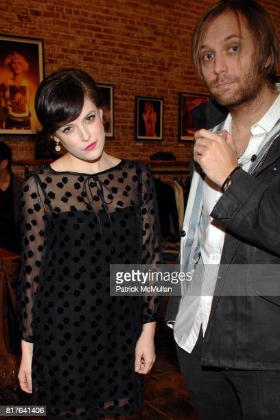 Riley Keough and Matt Beckley attend Riley Keough Shepard Fairey Host Mick Rock Exposed At Confederacy Presented by Creem Magazine Absolut at...