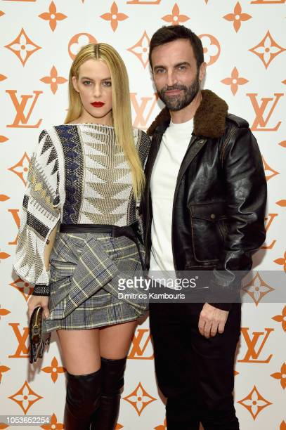 Riley Keough and Nicolas Ghesquiere attend the Louis Vuitton X Grace Coddington Event on October 25 2018 in New York City