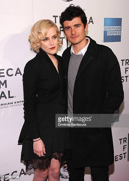 Riley Keough and Orlando Bloom attend the premiere of The Good Doctor during the 10th annual Tribeca Film Festival at BMCC Tribeca PAC on April 22...