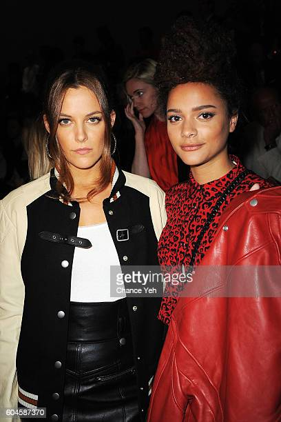 Riley Keough and Sasha Lane attend the Coach 1941 Women's Spring 2017 Show at Pier 76 on September 13 2016 in New York City