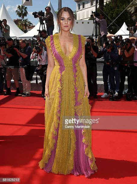 Riley Keough attends a screening of American Honey at the annual 69th Cannes Film Festival at Palais des Festivals on May 15 2016 in Cannes France