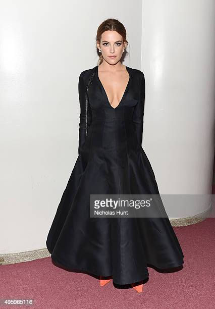 Riley Keough attends the 2015 Guggenheim International Gala Dinner made possible by Dior at Solomon R Guggenheim Museum on November 5 2015 in New...