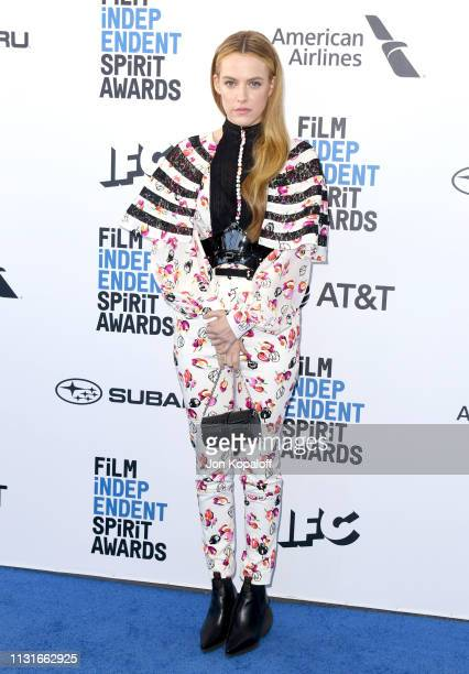 Riley Keough attends the 2019 Film Independent Spirit Awards on February 23 2019 in Santa Monica California