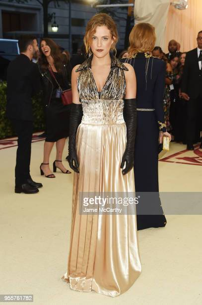 Riley Keough attends the Heavenly Bodies Fashion The Catholic Imagination Costume Institute Gala at The Metropolitan Museum of Art on May 7 2018 in...