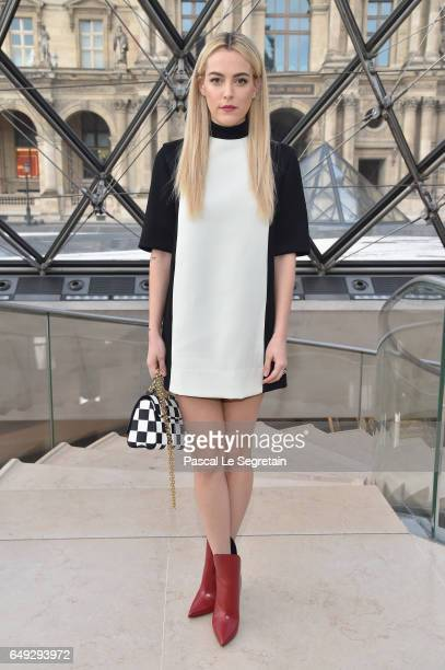 Riley Keough attends the Louis Vuitton show as part of the Paris Fashion Week Womenswear Fall/Winter 2017/2018 on March 7 2017 in Paris France