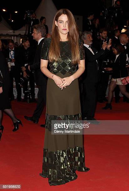 Riley Keough attends the 'Personal Shopper' premiere during the 69th annual Cannes Film Festival at the Palais des Festivals on May 17 2016 in Cannes...