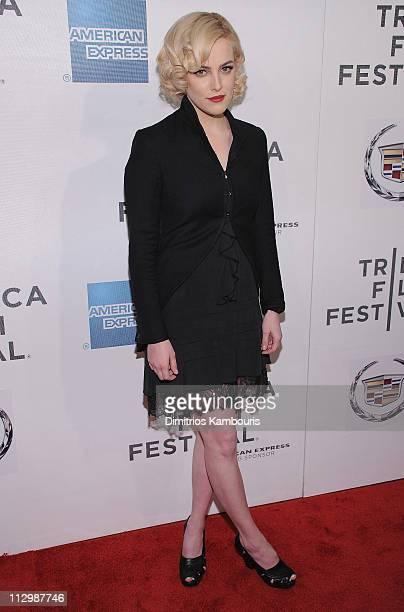 Riley Keough attends the premiere of 'The Good Doctor' during the 10th annual Tribeca Film Festival at BMCC Tribeca PAC on April 22 2011 in New York...