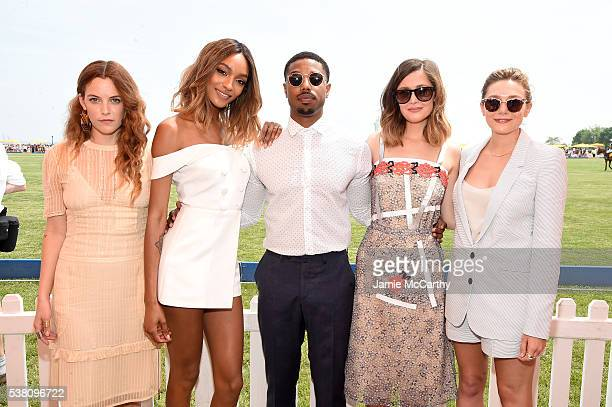 Riley Keough Jourdan Dunn Michael B Jordan Rose Byrne and Elizabeth Olsen attend the Ninth Annual Veuve Clicquot Polo Classic at Liberty State Park...