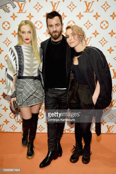 Riley Keough Justin Theroux and Noomi Rapace attend the Louis Vuitton X Grace Coddington Event on October 25 2018 in New York City